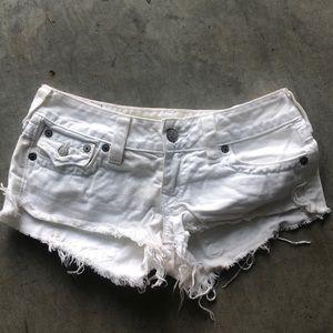 True Religion Joey  low rise shorts sz. 27